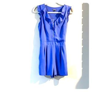 Periwinkle romper, with pockets